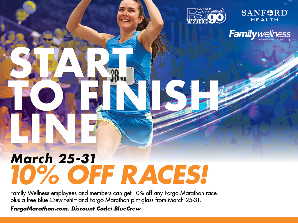Fargo Marathon Discount for Members! - Family Wellness Fargo